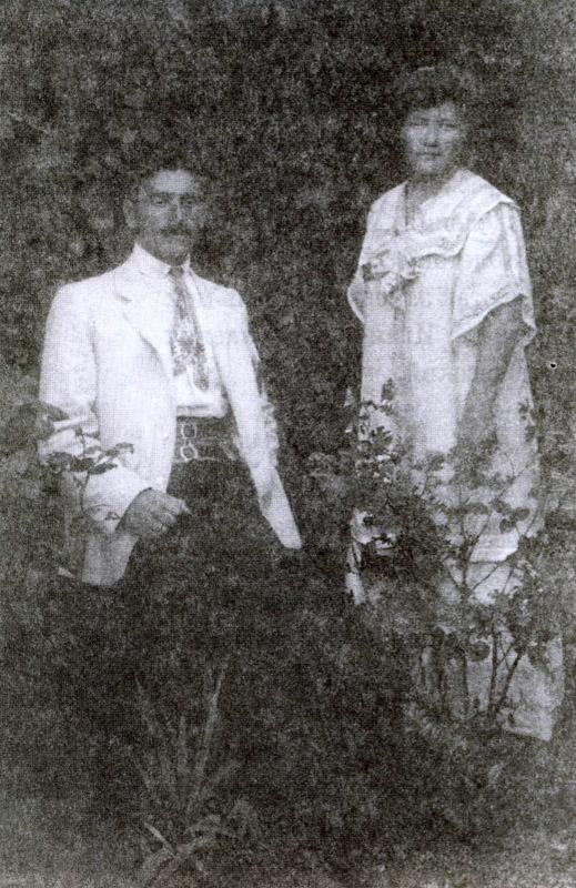 Иван и Мария Олтаржевские на даче С.С. Бахвалова.