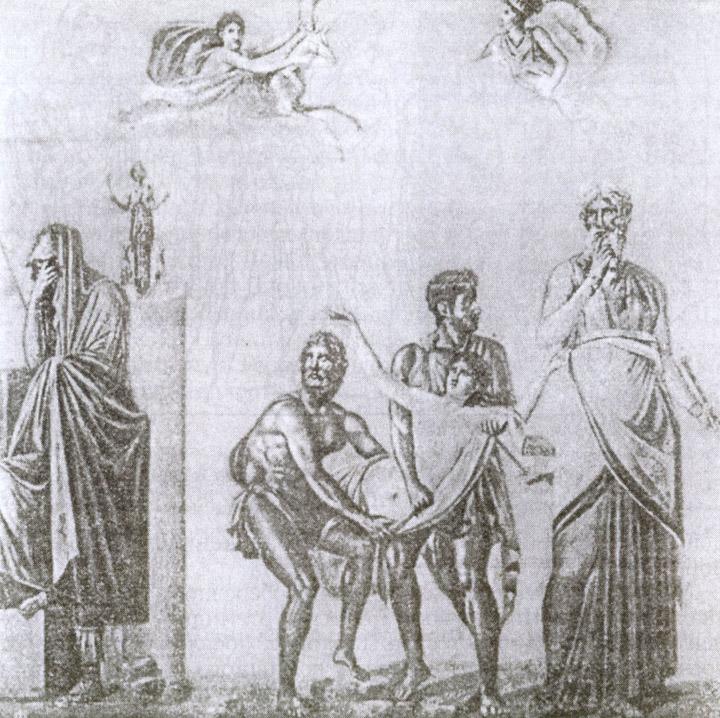 Ифигению несут к жертвенному алтарю (настенная живопись из Помпей)