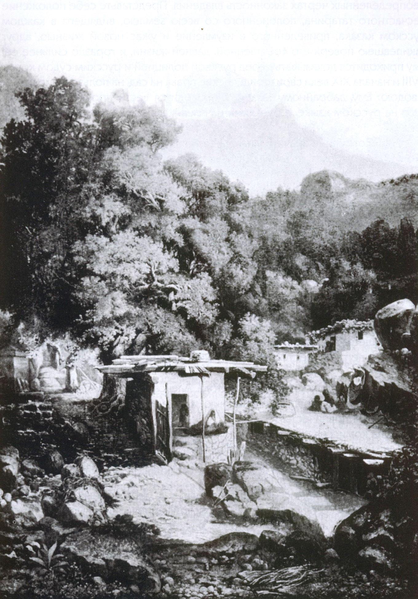Вид в Крыму. Картина М.И. Бочарова