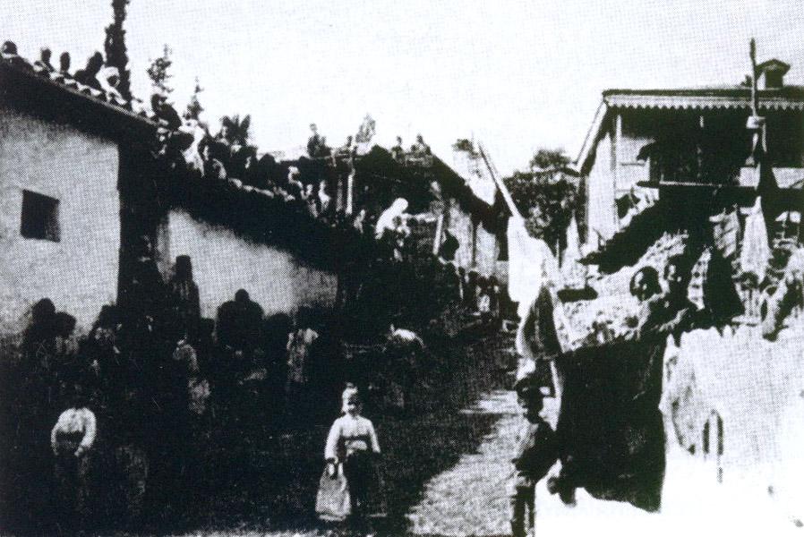 Улица татарской деревни