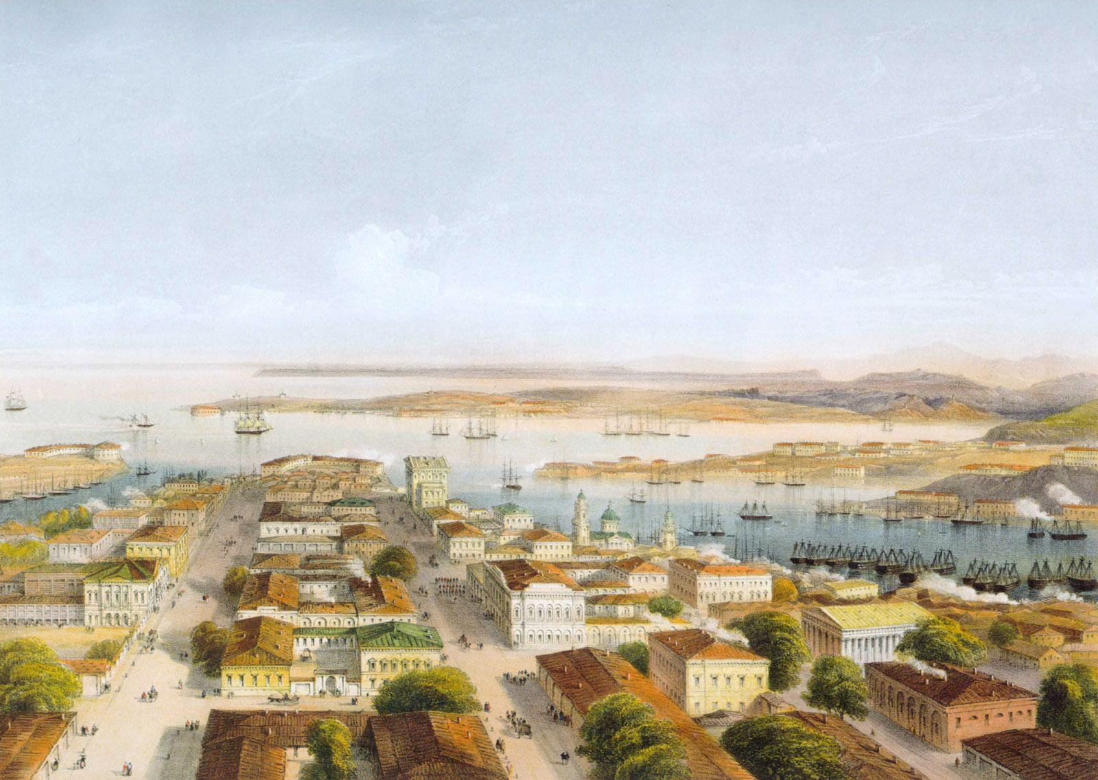 К. Боссоли. Общий вид Севастополя