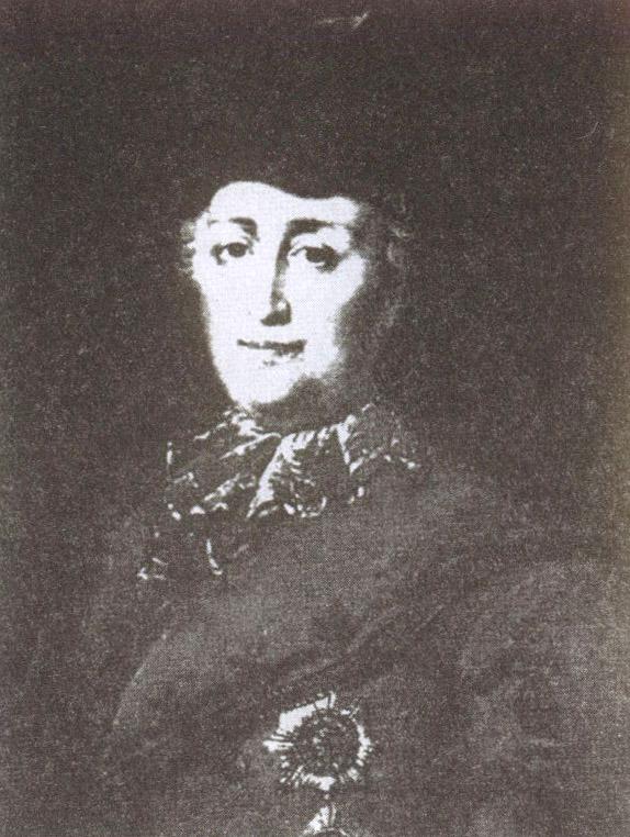 Императрица Екатерина II в дорожном костюме. Фрагмент картины М. Бабанова, 1787 год