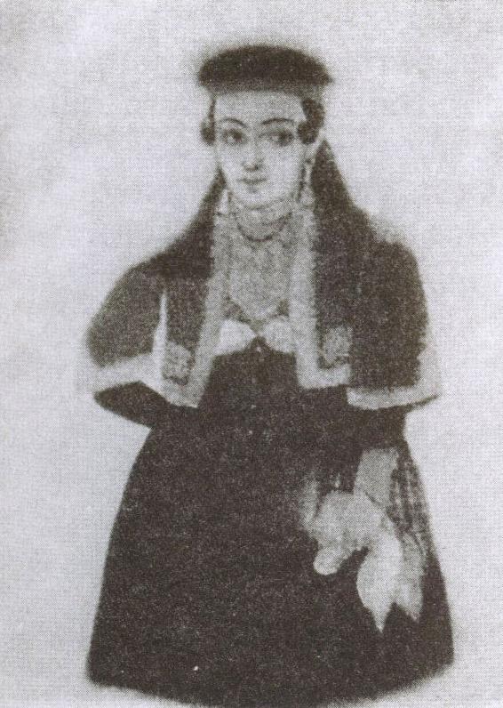 Караимская женщина XIX века. Рисунок из экспозиции Краеведческого музея