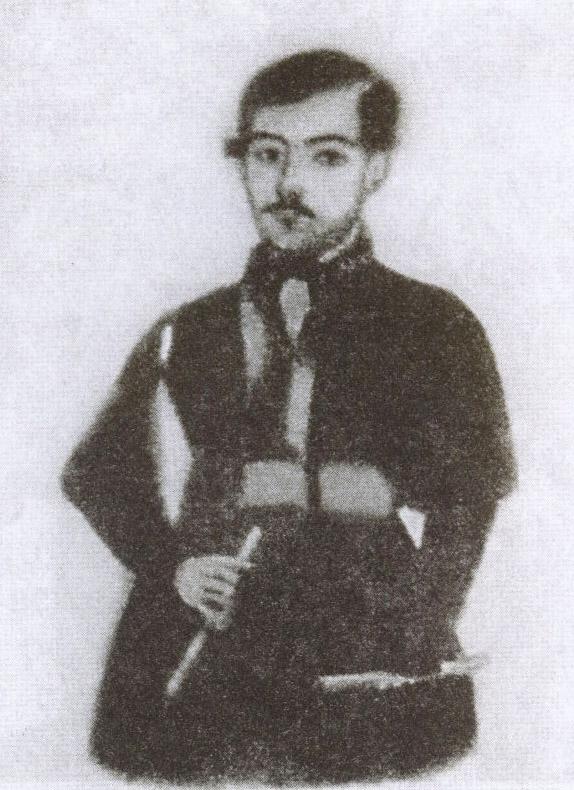 Караимский мужчина XIX века. Рисунок из экспозиции Краеведческого музея