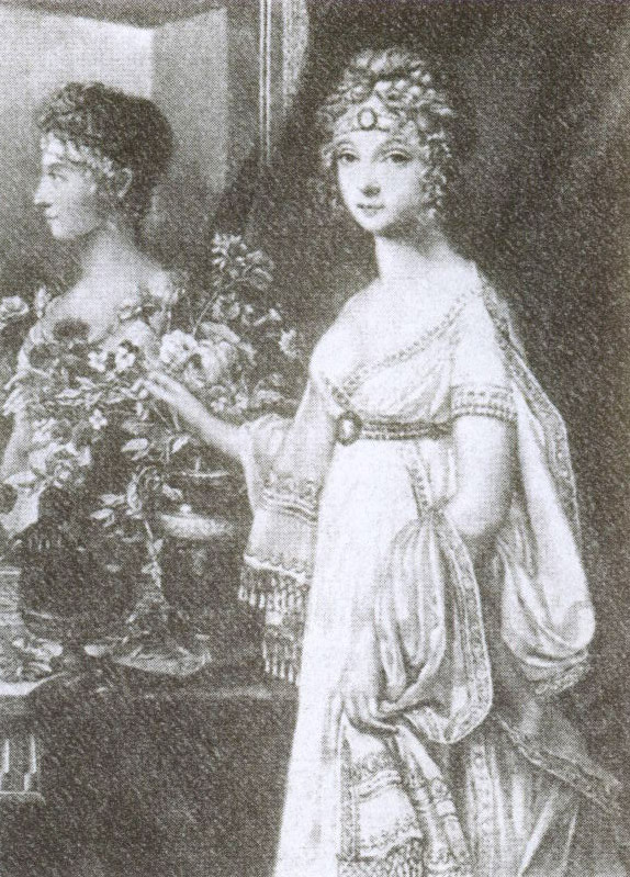 Императрица Елизавета Алексеевна, супруга Александра I. Гравюра С. Турнера с портрета Ж. Донье