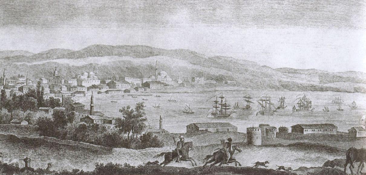 Всадники в окрестностях Евпатории. Гравюра XIX века
