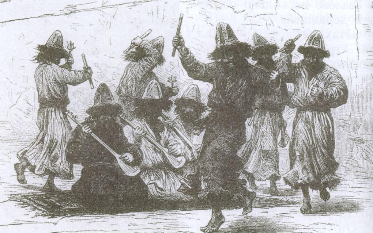 Дервиши-музыканты. Рисунок Делор