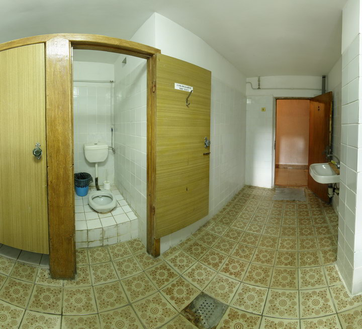 Общий туалет для номеров с частичными удобствами