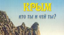 Крым, кто ты и чей ты?